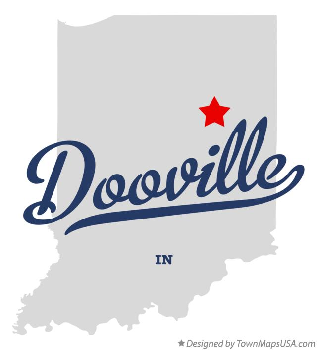 Map of Dooville Indiana IN