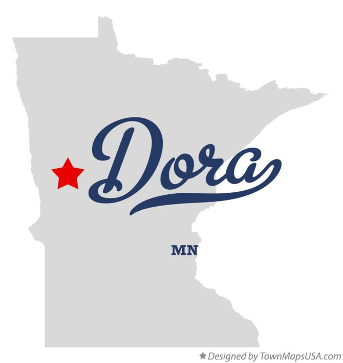 Map of Dora Minnesota MN