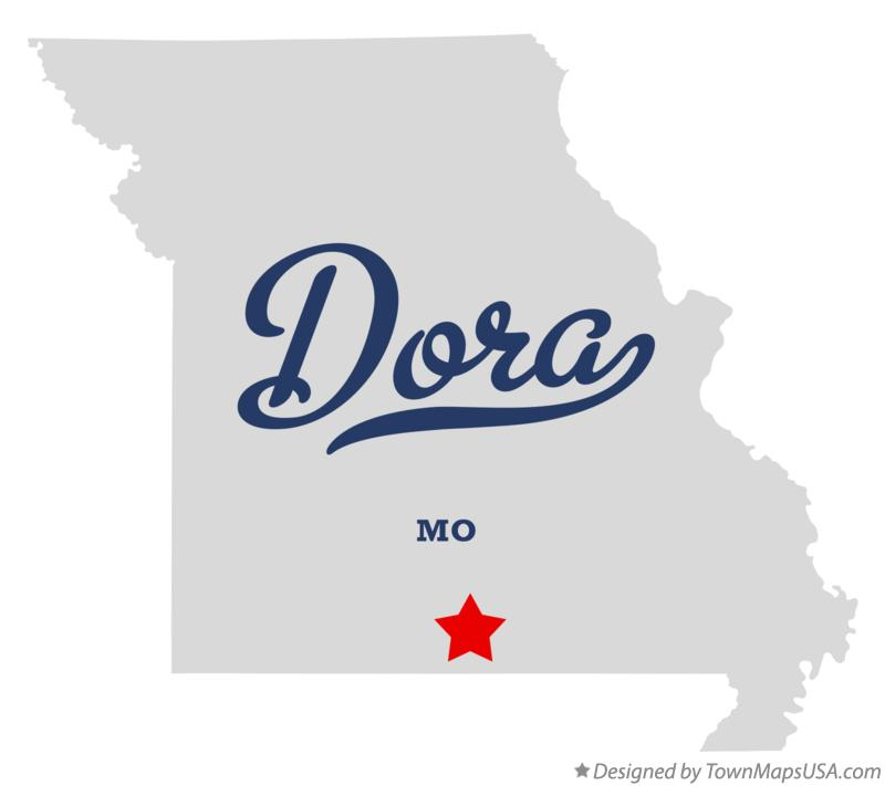 Map of Dora Missouri MO