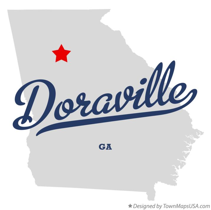 Map of Doraville Georgia GA