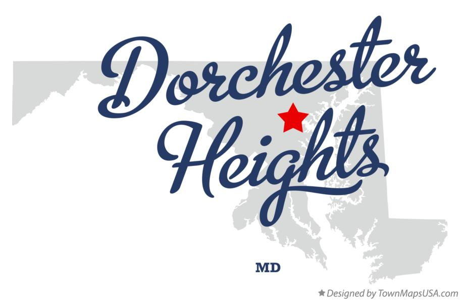 Map of Dorchester Heights Maryland MD
