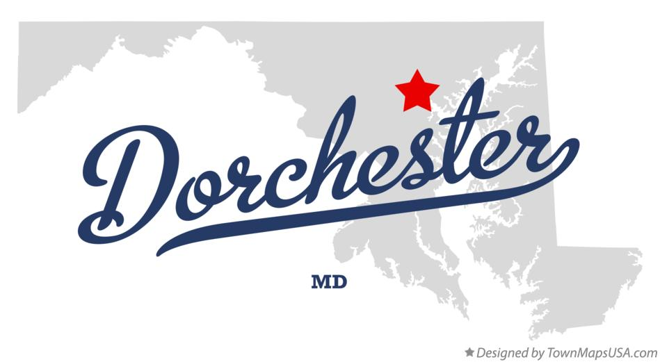 Map of Dorchester Maryland MD