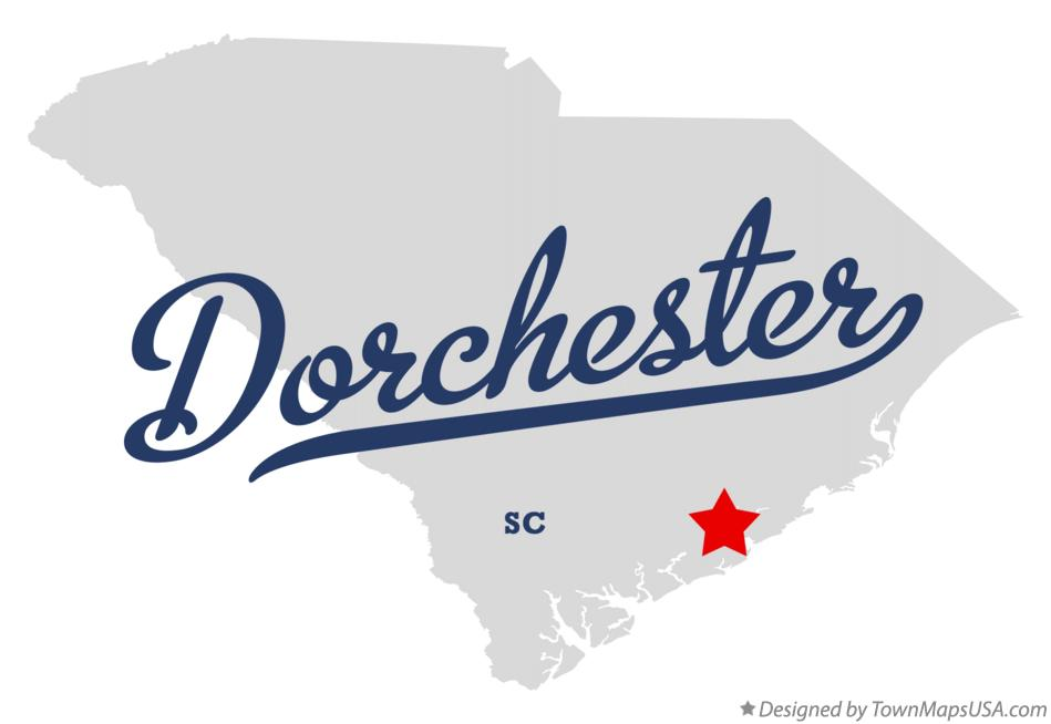 Map of Dorchester South Carolina SC