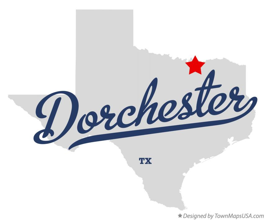 Map of Dorchester Texas TX