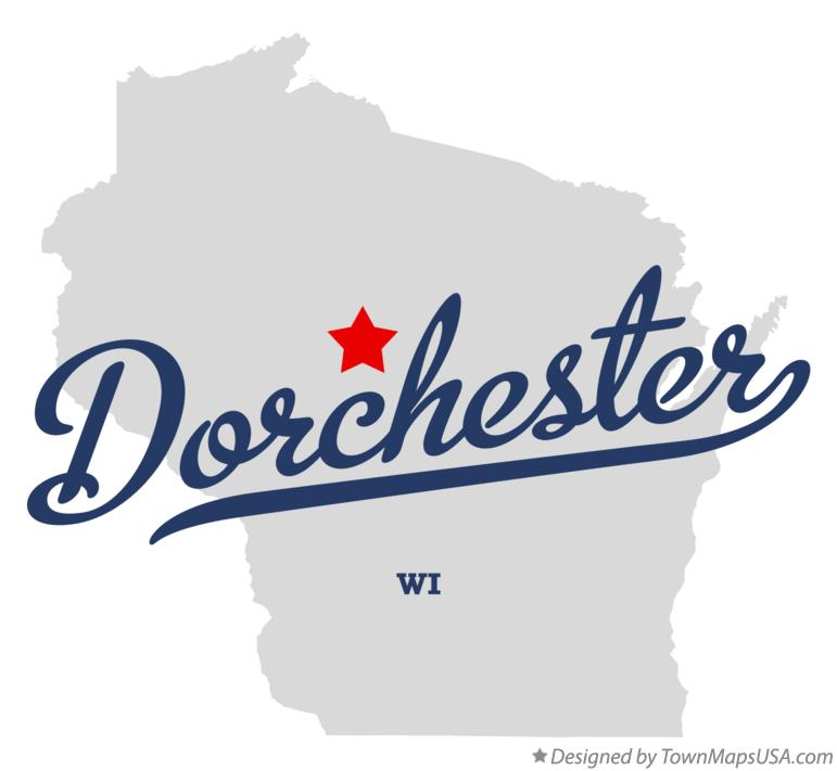 Map of Dorchester Wisconsin WI