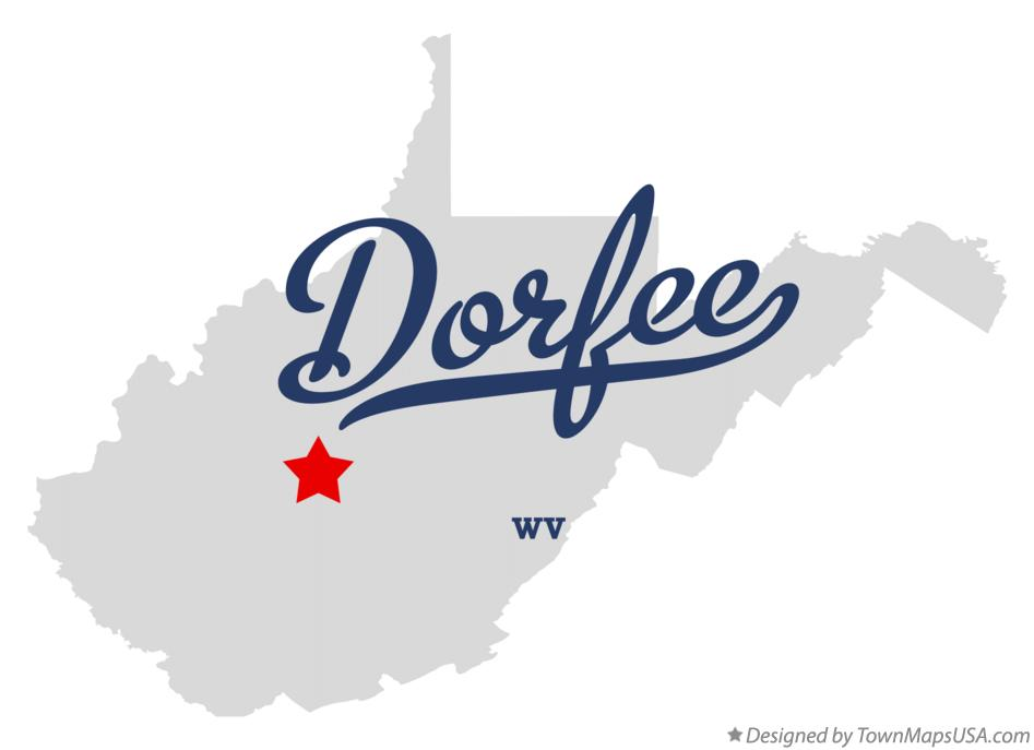 Map of Dorfee West Virginia WV