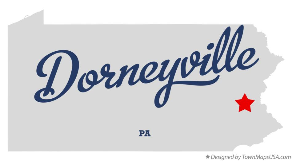 Map of Dorneyville Pennsylvania PA