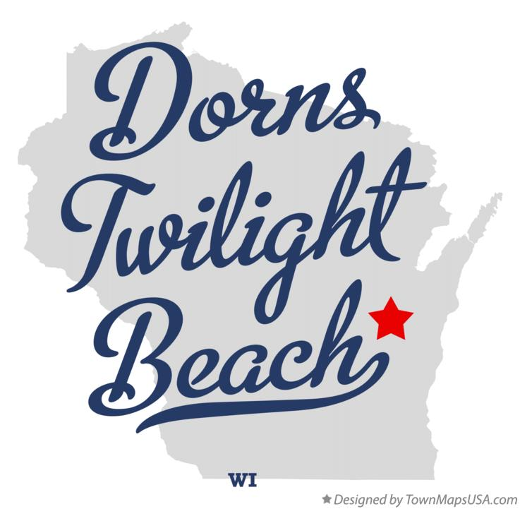 Map of Dorns Twilight Beach Wisconsin WI