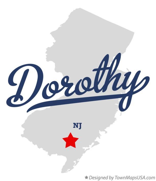 Map of Dorothy New Jersey NJ
