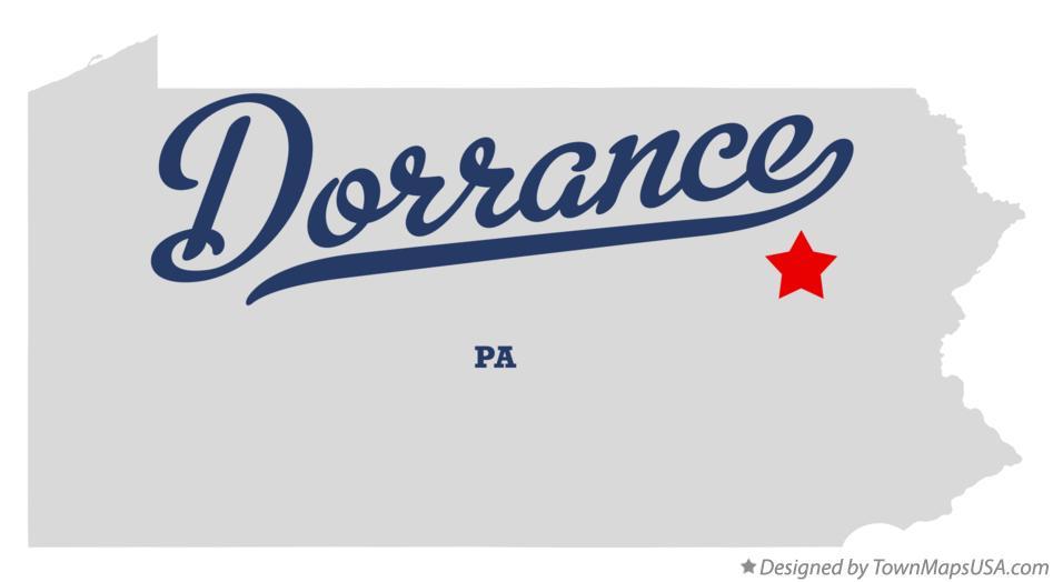 Map of Dorrance Pennsylvania PA
