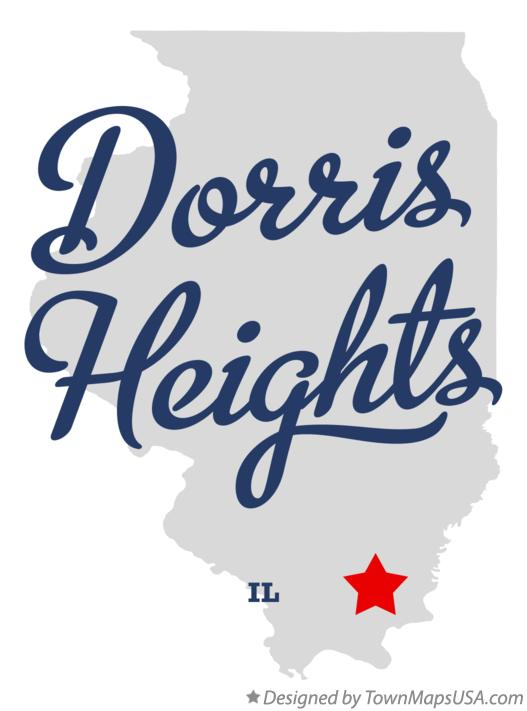 Map of Dorris Heights Illinois IL