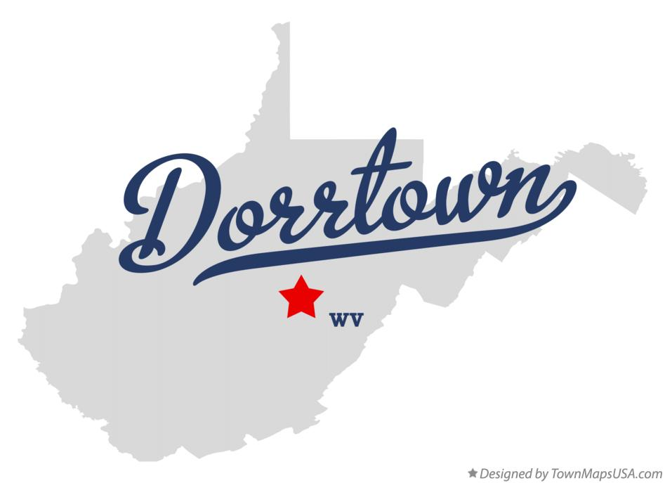 Map of Dorrtown West Virginia WV
