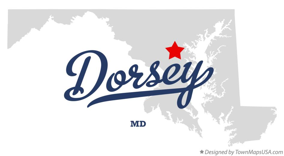 Map of Dorsey Maryland MD