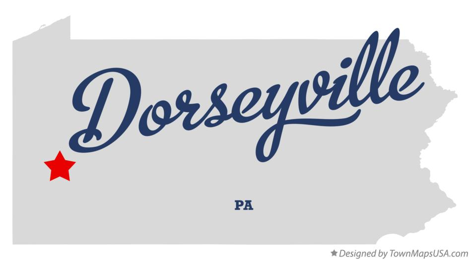 Map of Dorseyville Pennsylvania PA
