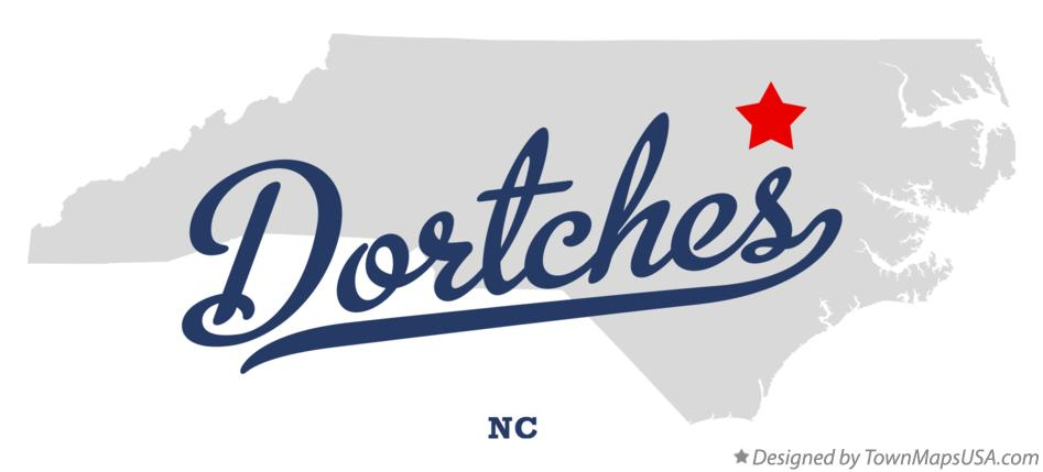 Map of Dortches North Carolina NC