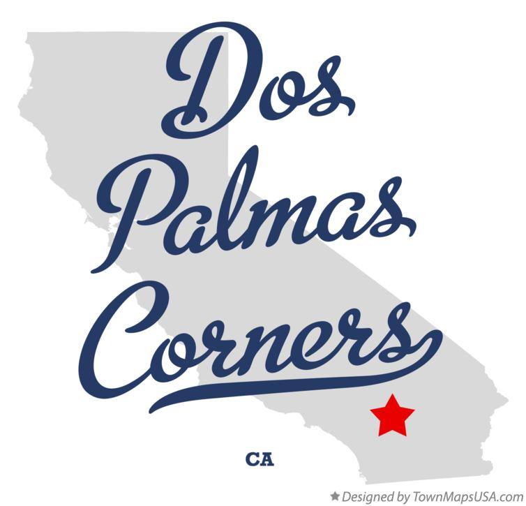 Map of Dos Palmas Corners California CA