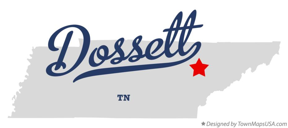 Map of Dossett Tennessee TN