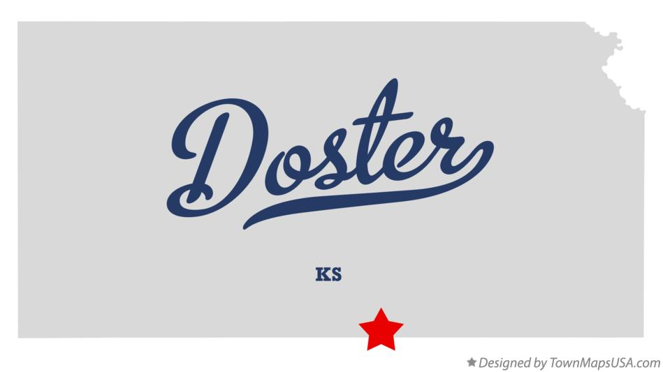 Map of Doster Kansas KS