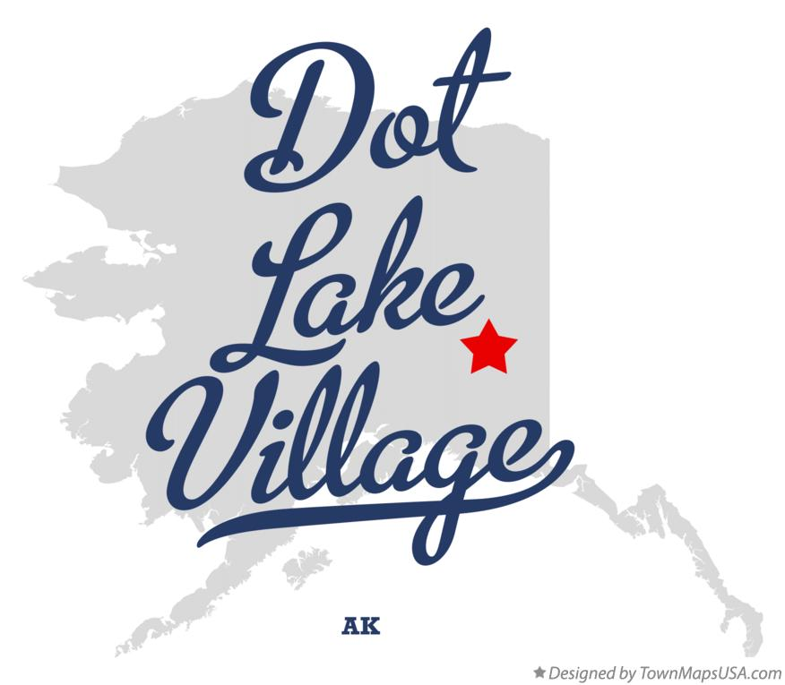 Map of Dot Lake Village Alaska AK