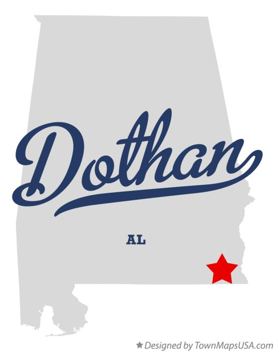 Map of Dothan AL Alabama