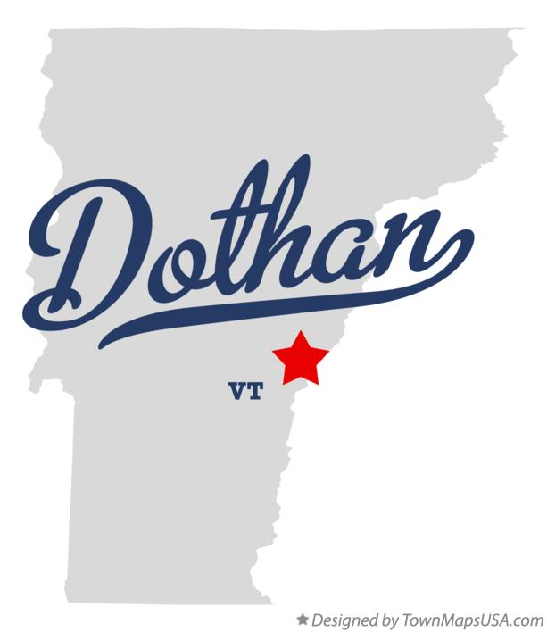 Map of Dothan Vermont VT