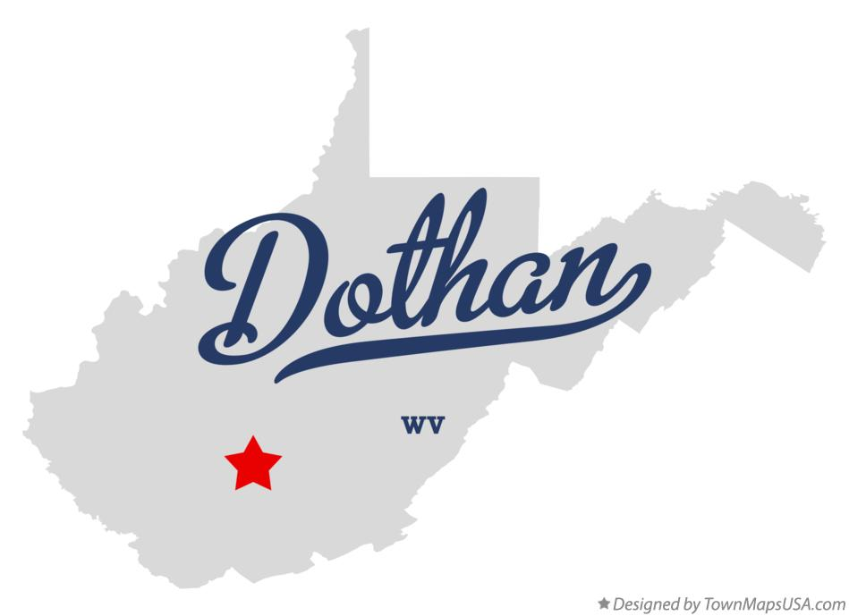 Map of Dothan West Virginia WV