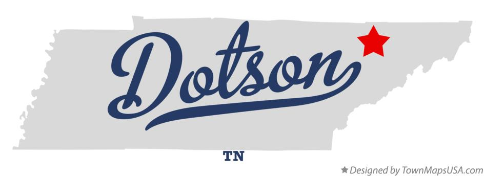 Map of Dotson Tennessee TN