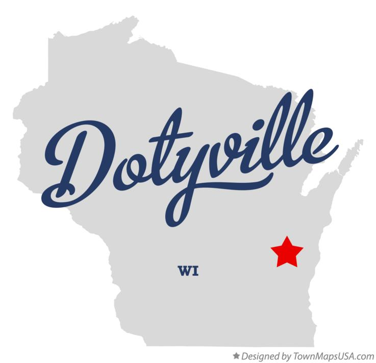 Map of Dotyville Wisconsin WI