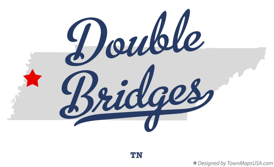 Map of Double Bridges Tennessee TN
