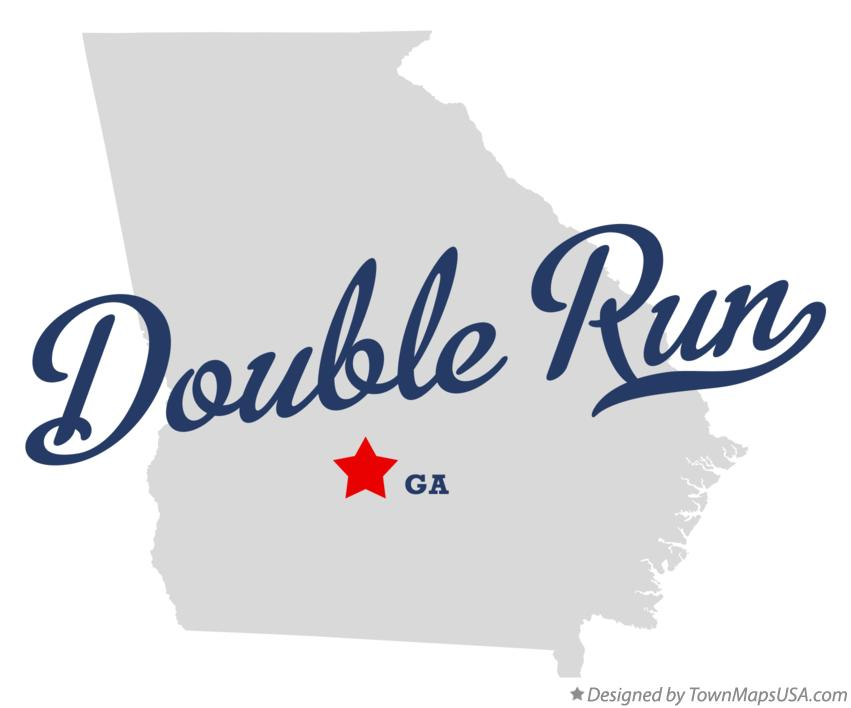 Map of Double Run Georgia GA