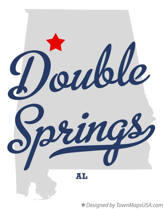 Map of Double Springs Alabama AL
