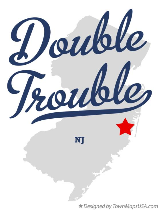 Map of Double Trouble New Jersey NJ