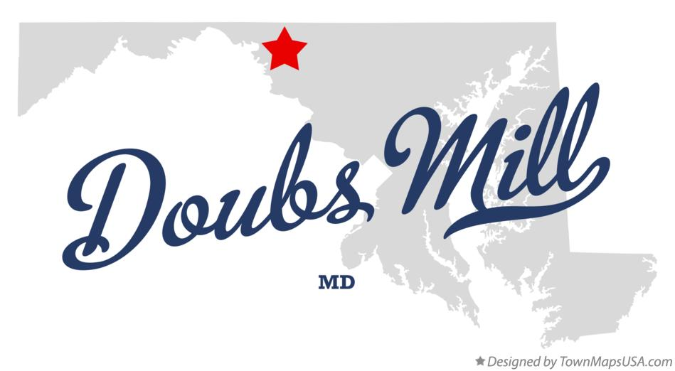 Map of Doubs Mill Maryland MD