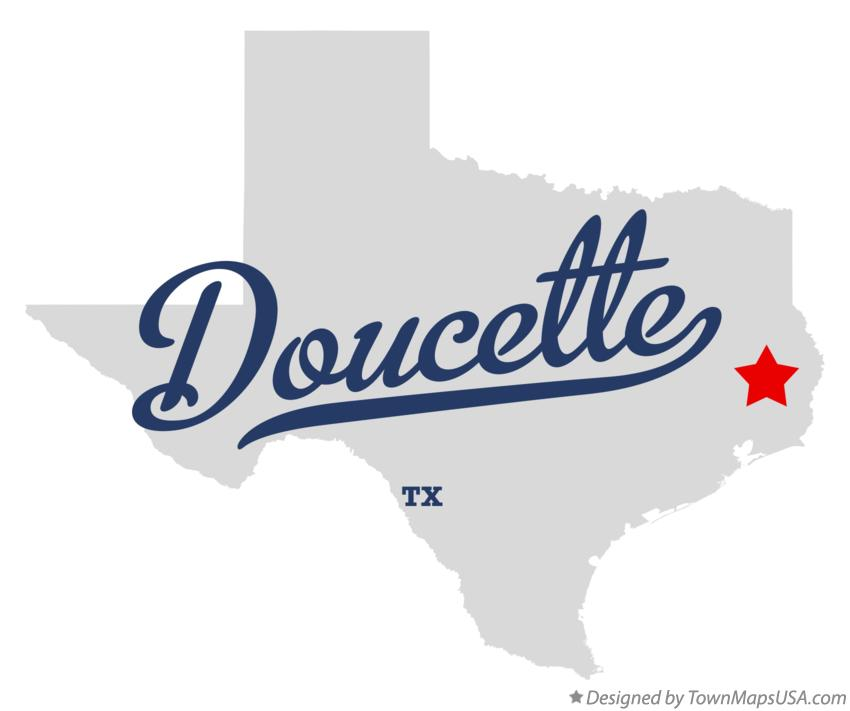 Map of Doucette Texas TX