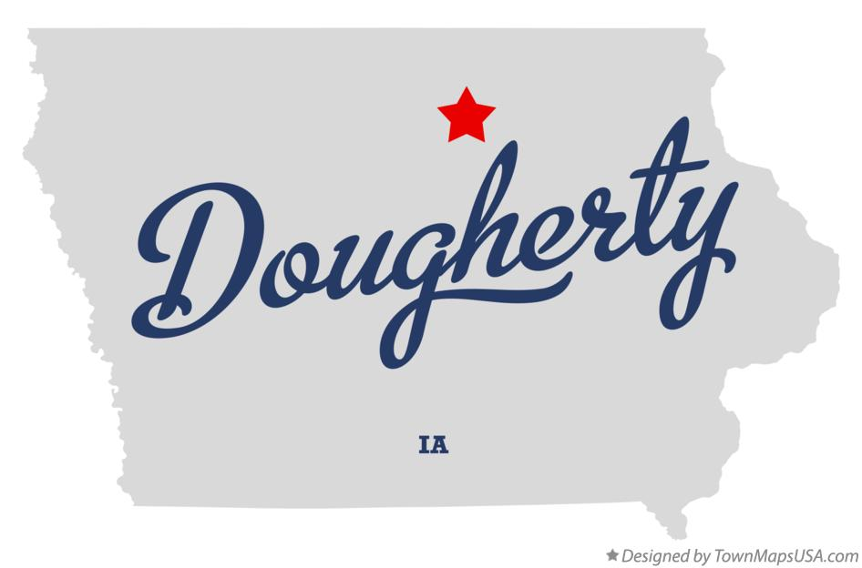 Map of Dougherty Iowa IA