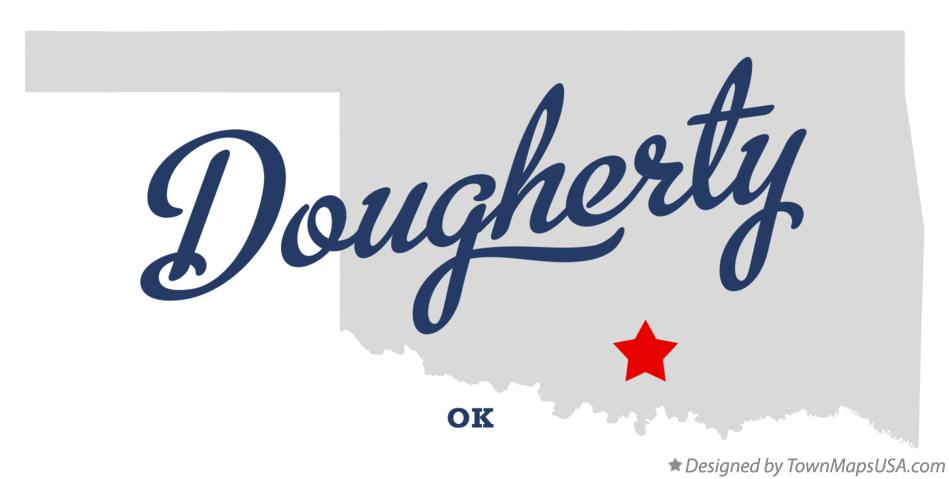 Map of Dougherty Oklahoma OK