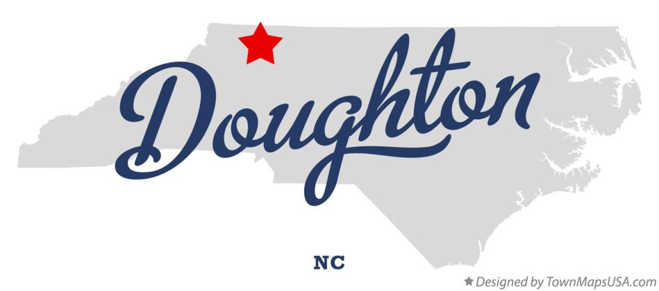 Map of Doughton North Carolina NC