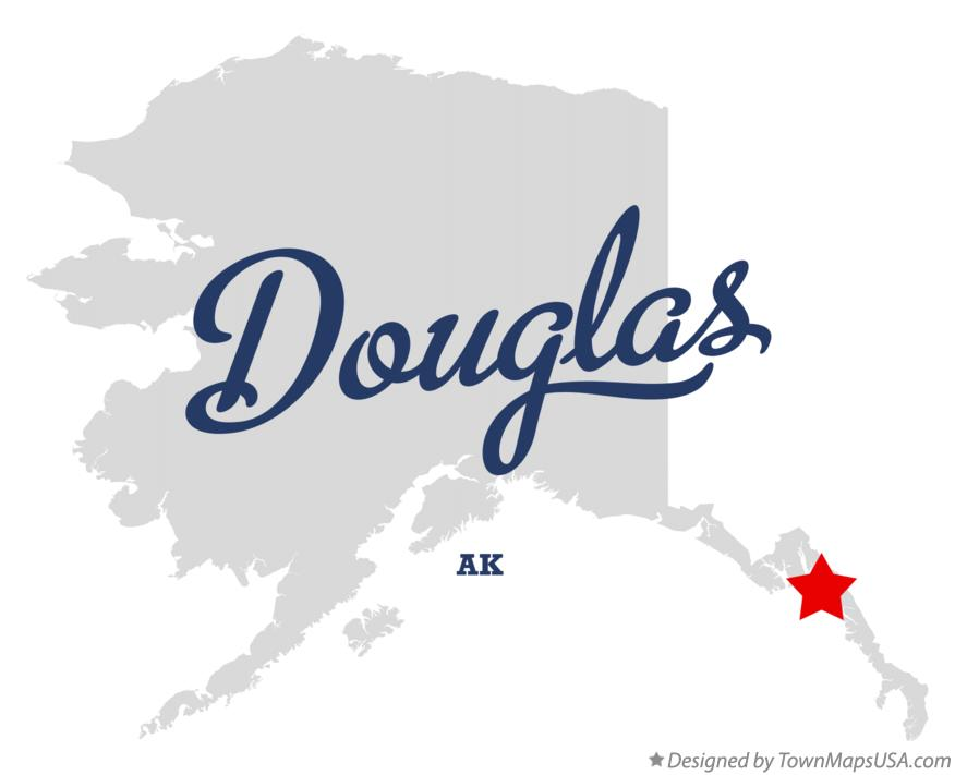 Map of Douglas Alaska AK