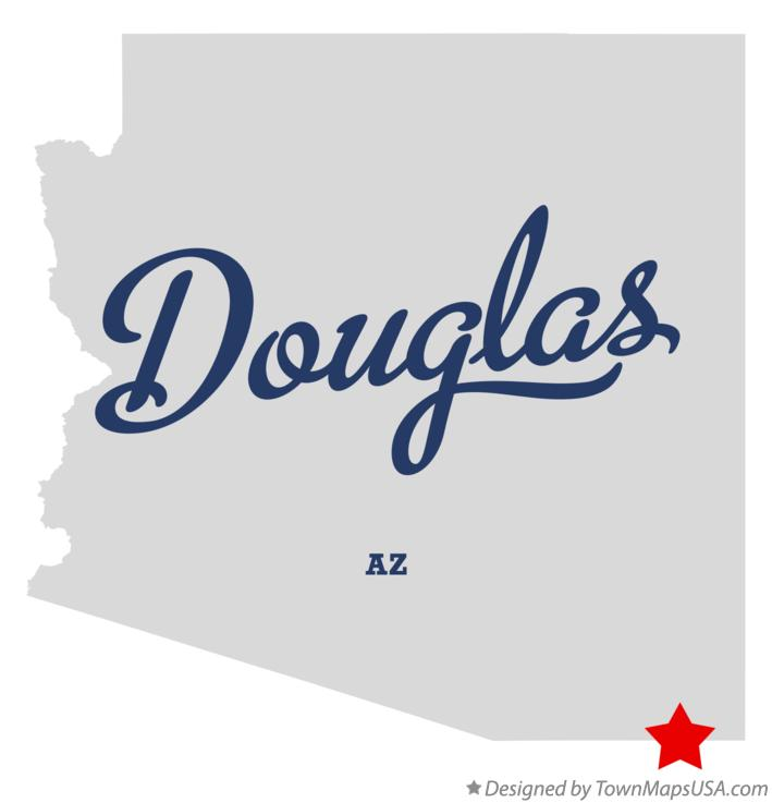 Map of Douglas Arizona AZ