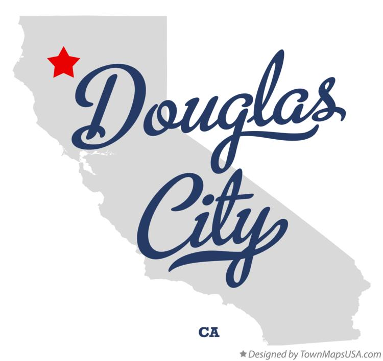 Map of Douglas City California CA
