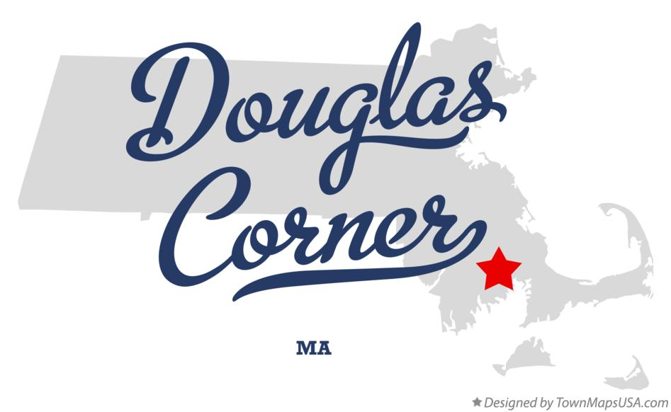 Map of Douglas Corner Massachusetts MA