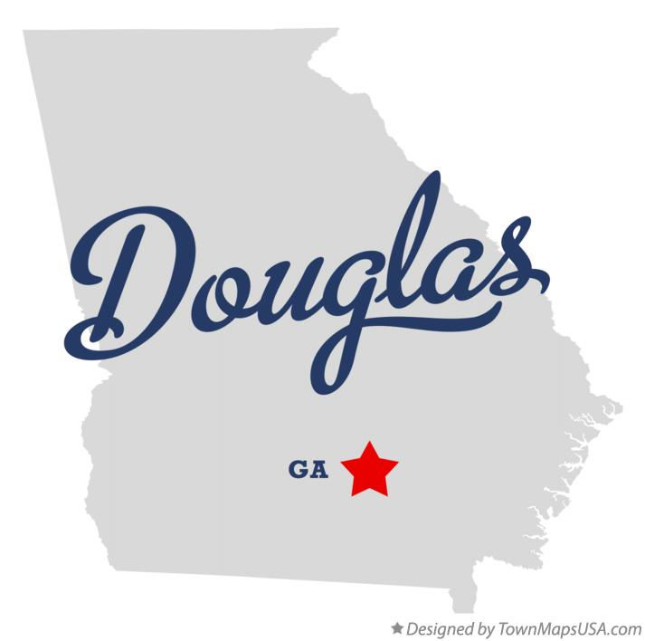 Map of Douglas Georgia GA