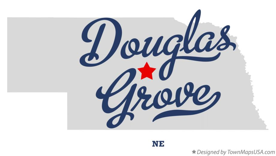 Map of Douglas Grove Nebraska NE
