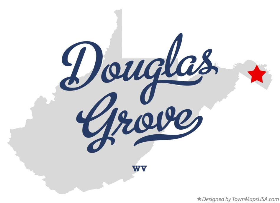Map of Douglas Grove West Virginia WV