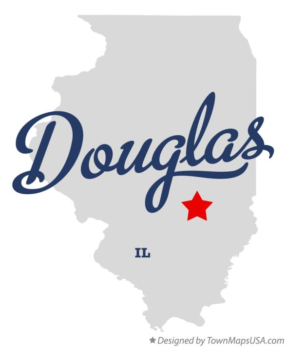Map of Douglas Illinois IL