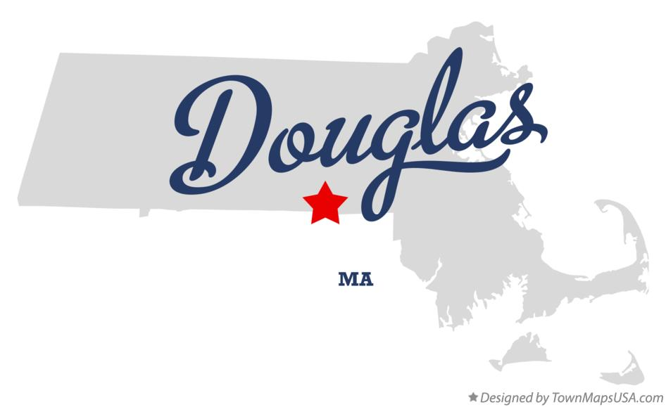 Map of Douglas Massachusetts MA