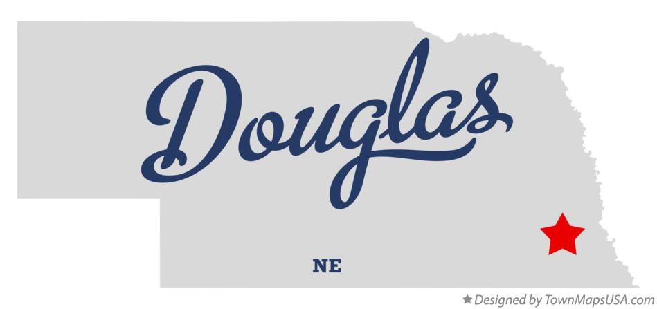 Map of Douglas Nebraska NE