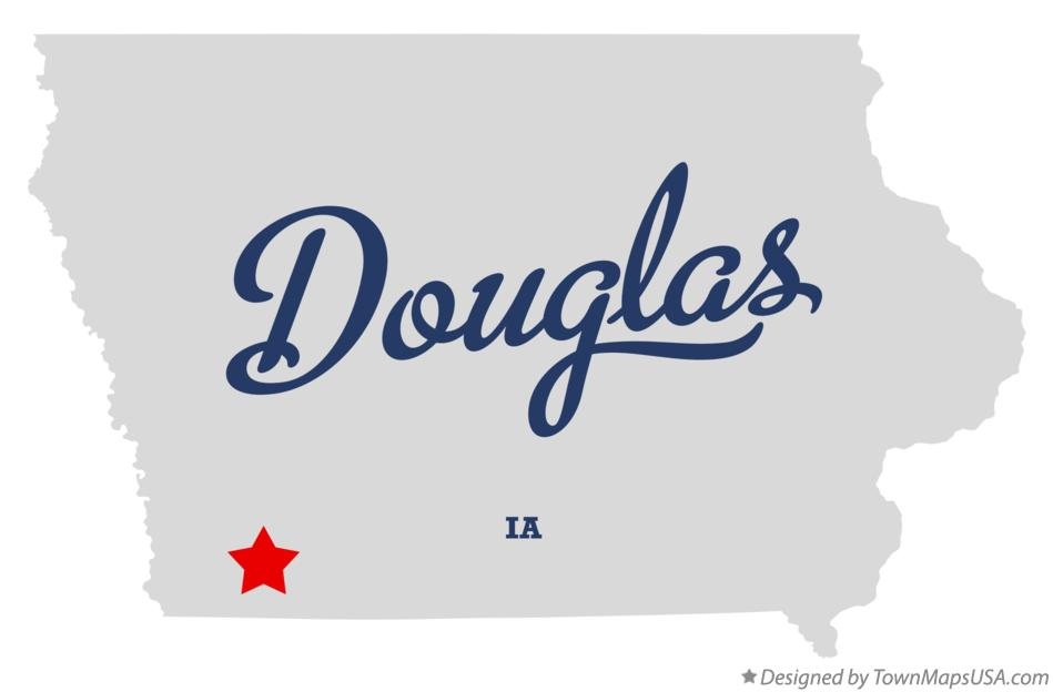 Map of Douglas Iowa IA
