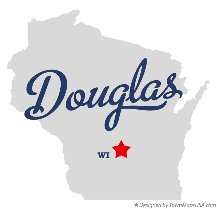 Map of Douglas Wisconsin WI