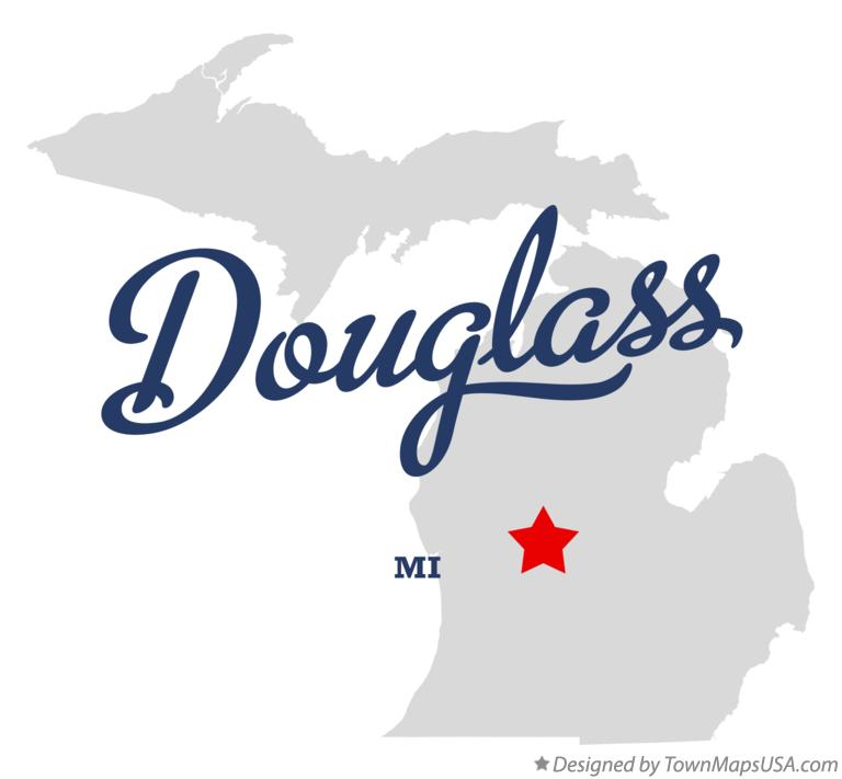 Map of Douglass Michigan MI